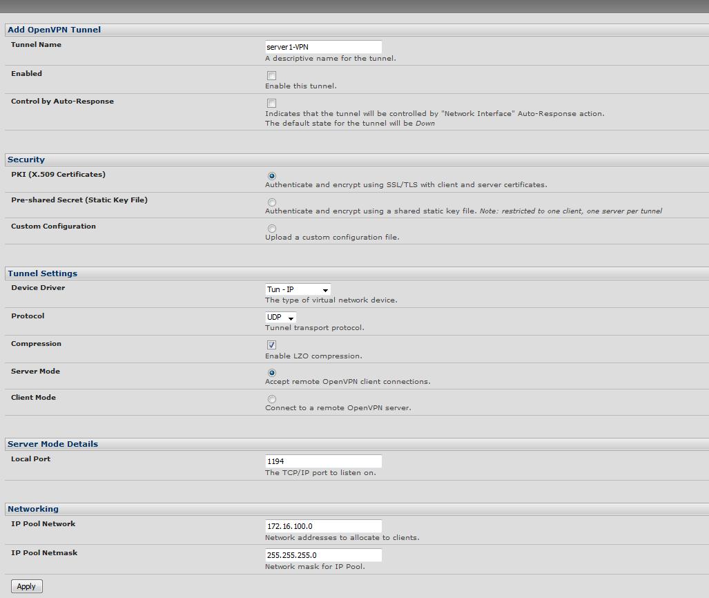 Configuring OpenVPN Server using X 509 Certificates – Opengear Help Desk